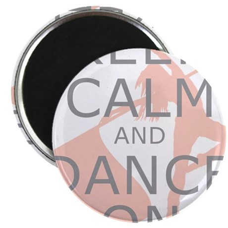 Colorguard Keep Calm and Dance On Meme Magnet