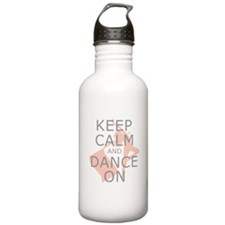 Colorguard Keep Calm and Dance On Meme Water Bottle