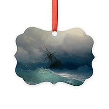 Aivazovsky - Ship on Stormy Seas Ornament