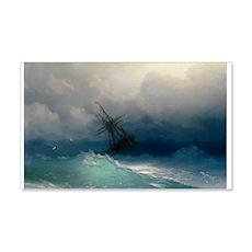 Aivazovsky - Ship on Stormy Seas Wall Decal