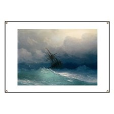 Aivazovsky - Ship on Stormy Seas Banner