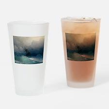 Aivazovsky - Ship on Stormy Seas Drinking Glass