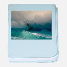 Aivazovsky - Ship on Stormy Seas baby blanket