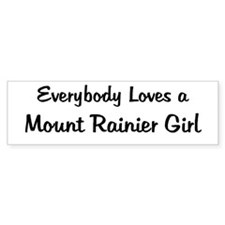 Mount Rainier Girl Bumper Bumper Sticker