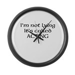 Acting, Not Lying! Large Wall Clock