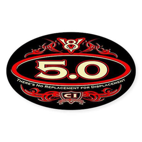5.0 Engine Sticker (Oval)