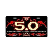 5.0 Engine Aluminum License Plate