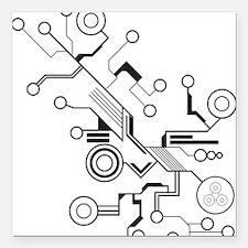 "Circuit Board Square Car Magnet 3"" x 3"""