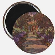Charles Monet - Garden Path 1902 Magnet