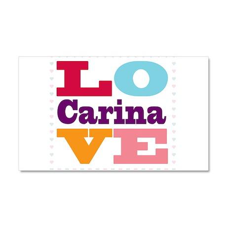 I Love Carina Car Magnet 20 x 12
