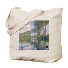 Claude Monet - Poplars at the Epte c1900 Tote Bag