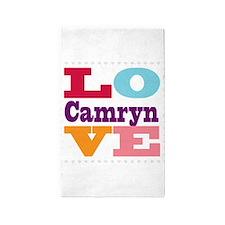 I Love Camryn 3'x5' Area Rug