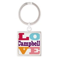 I Love Campbell Square Keychain
