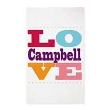 I Love Campbell 3'x5' Area Rug