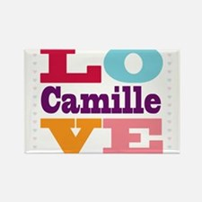 I Love Camille Rectangle Magnet