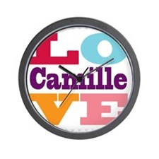 I Love Camille Wall Clock