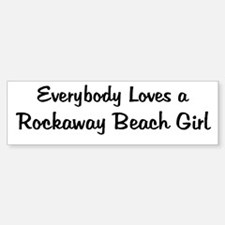 Rockaway Beach Girl Bumper Bumper Bumper Sticker