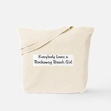 Rockaway Beach Girl Tote Bag