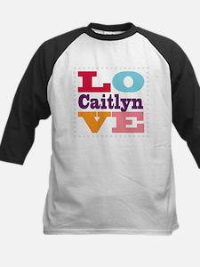 I Love Caitlyn Kids Baseball Jersey