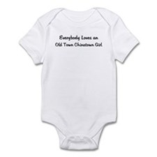 Old Town Chinatown Girl Infant Bodysuit