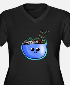 Chibi Pho Women's Plus Size V-Neck Dark T-Shirt