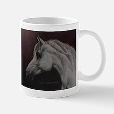 Gray Arabian Stallion Head Profile Mug
