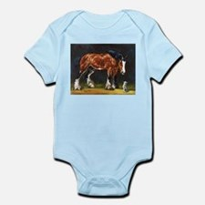 Clydesdale Horse and Cat Infant Bodysuit