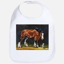 Clydesdale Horse and Cat Bib