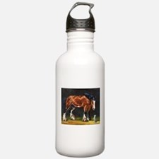 Clydesdale Horse and Cat Water Bottle