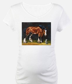 Clydesdale Horse and Cat Shirt