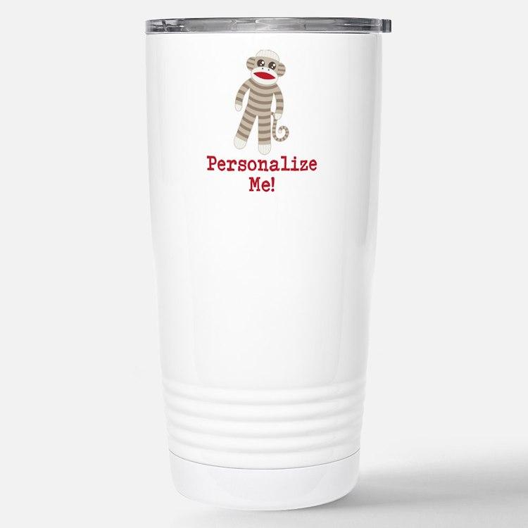 Classic Sock Monkey Stainless Steel Travel Mug