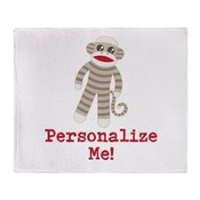 Classic Sock Monkey Throw Blanket
