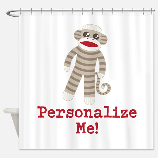 Classic Sock Monkey Shower Curtain