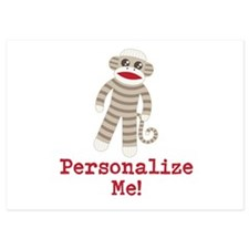 Classic Sock Monkey Invitations