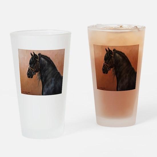 Friesian Horse Drinking Glass