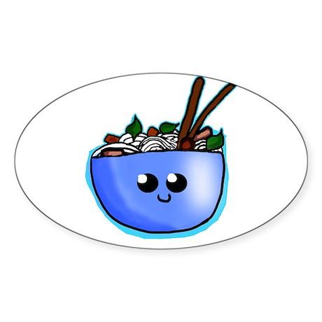 Chibi Pho Sticker (Oval)