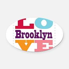 I Love Brooklyn Oval Car Magnet
