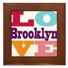 I Love Brooklyn Framed Tile