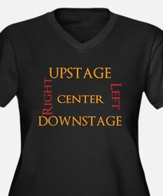 Stage Directions! Women's Plus Size V-Neck Dark T-