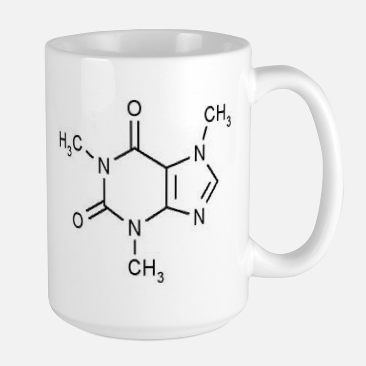 2-caffeine_molecule Mugs