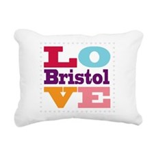 I Love Bristol Rectangular Canvas Pillow
