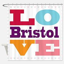 I Love Bristol Shower Curtain