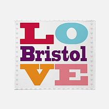 I Love Bristol Throw Blanket