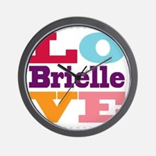 I Love Brielle Wall Clock