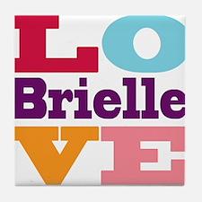 I Love Brielle Tile Coaster