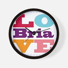 I Love Bria Wall Clock