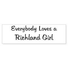 Richland Girl Bumper Bumper Sticker