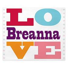 I Love Breanna King Duvet