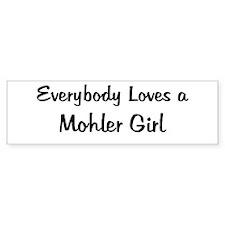 Mohler Girl Bumper Bumper Sticker