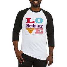 I Love Bethany Baseball Jersey